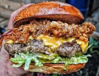 Burger & Beyond and Other Side Fried join forces for Soho residency