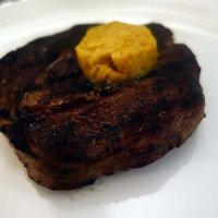 Ribeye steak with Bottarga butter