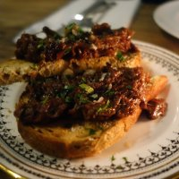 Oxtail on toast with smoked marrow