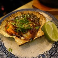 Hand dived roasted scallop – chilli miso butter