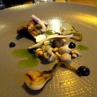 St George's mushrooms with grelot onions and sour cream