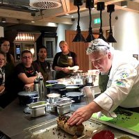 Taking a class at Season cookery school