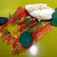 Our own cured trout dish