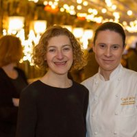 Blogger Felicity Spector and Cafe Royal's Patisserie chef Sarah Barber