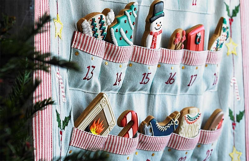 Biscuiteers advent calendar hand-made by Susie Watson