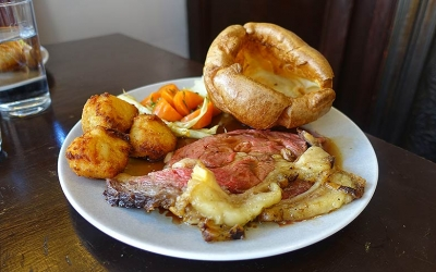 Test Driving Aidan McGee's Sunday Roast - the master is back at the George and Dragon