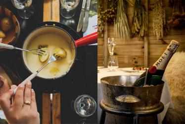 The cheese room at Le Pont de la Tour this January is serving up fondue feasts