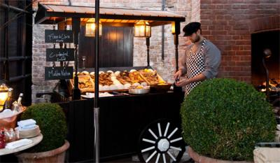 Chiltern Firehouse launches new oyster cart by Nuno Mendes in its courtyard