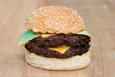 Bleecker team with Neil Rankin for a Symplicity veggie burger