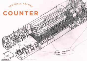 New brasserie COUNTER is coming to the arches under Vauxhall station