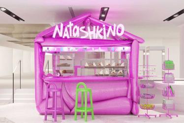 Look for the hot pink NATASHKINOltd cafe popping up at Harvey Nichols