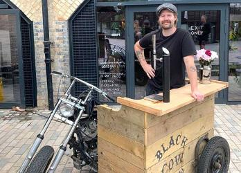 The Black Cow Vodka bar pops up at the Coal Office in King's Cross