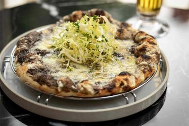 The Connaught is serving up black truffle pizzas to go