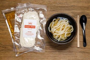 Koya will be delivering udon and dashi through your letterbox