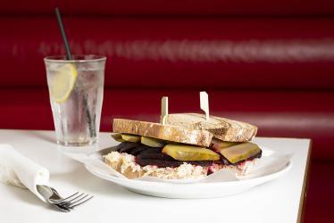 Selfridges' Brass Rail goes vegan with a salt beet sandwich