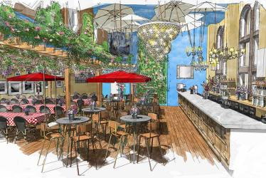 Figaro's Bar recreates a piece of Provence in Piccadilly's Trocadero