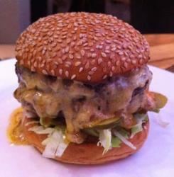 Fred Smith's Double Cheese Stack burger at the Admiral Codrington
