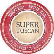 Italian restaurant and wine bar Enoteca Super Tuscan opens in Spitalfields