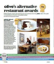 Olive magazine 2011 restaurant awards give top plaudits to Pollen Street, Pitt Cue and more...