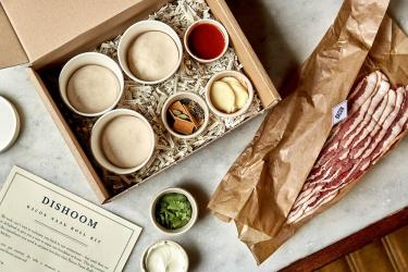 Dishoom are delivering a bacon naan kit