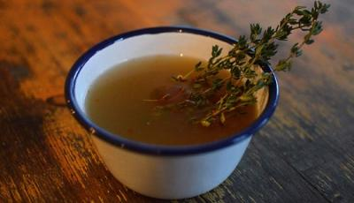 Bone broth on the menu at The Wild Game Co pop-up on Charlotte Street