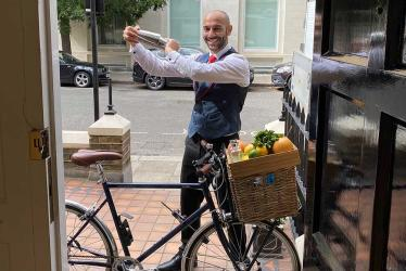 The Berkeley are now sending cocktails by bike to Knightsbridge residents