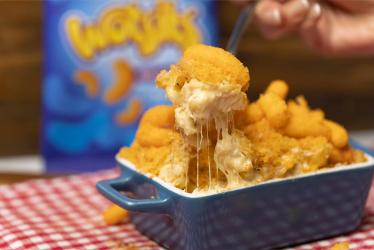 In search of comfort food? How about Wotsit Mac n Cheese, delivered?