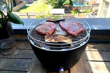 Test Driving the Lotus Grill - a space saving BBQ that's perfect for Londoners