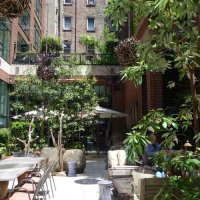 The terrace at the Crosby Street Hotel