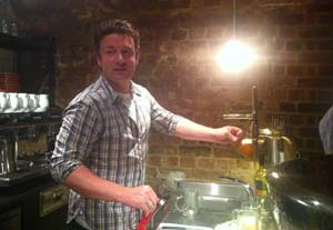 Most surreal moment - Jamie Oliver pulling late night pints for us in Covent Garden