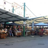 The food market in Rovinj