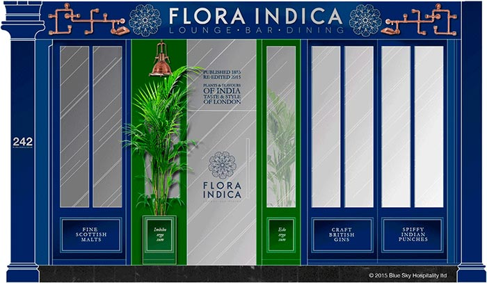 Botanical Indian restaurant Flora Indicia comes to Old Brompton Road