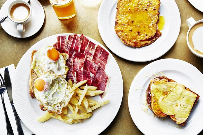 Jose Pizarro adds breakfast with Iberico ham, eggs and chips