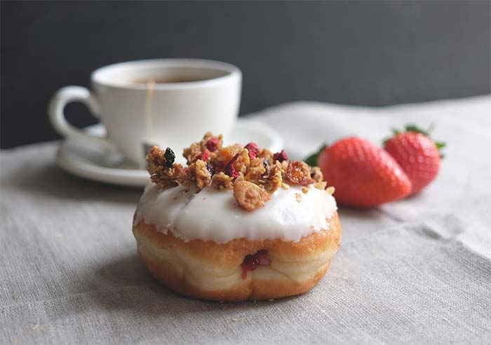 Crosstown launch the breakfast strawberry jam granola doughnut