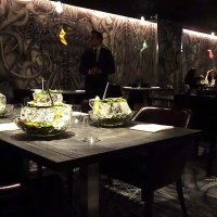 Our table at Alinea awaits