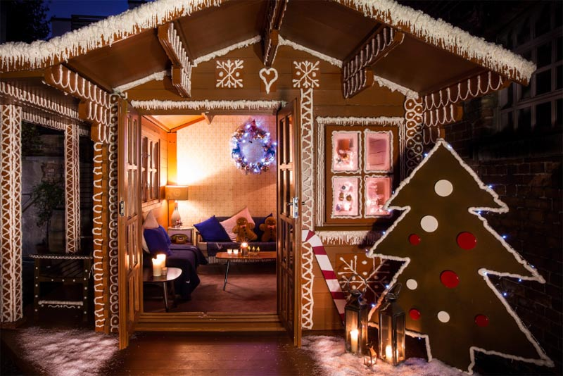 There's a pop-up gingerbread cabin at The York and Albany in Camden