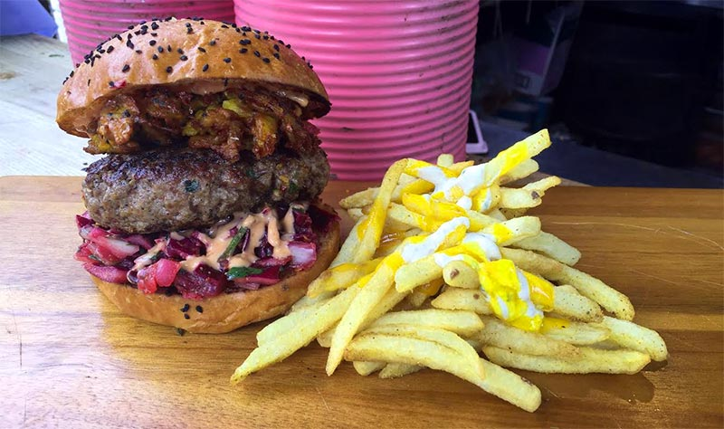 Baba G's Bhangra Burgers long-term pop-up in Finsbury Square