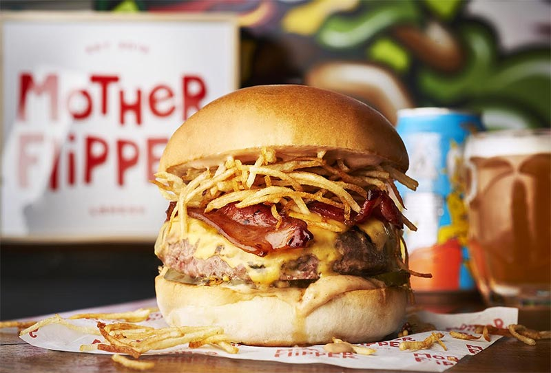 Mother Flipper and Honest Burgers join forces for June