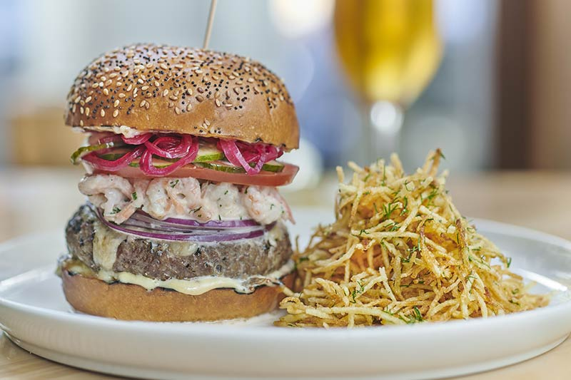 A Nordic burger comes to town with Aquavit's Skagen-burger