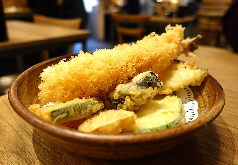 the prawn tempura