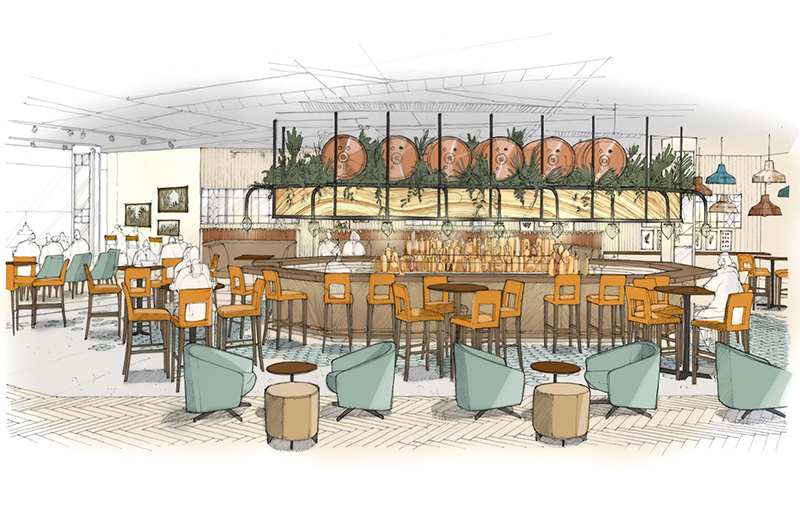 Maple at Westfield London is the next bar from the people behind The Botanist