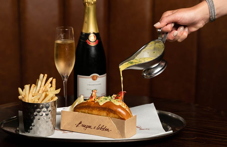 Burger and Lobster pimp up their lobster roll with Champagne
