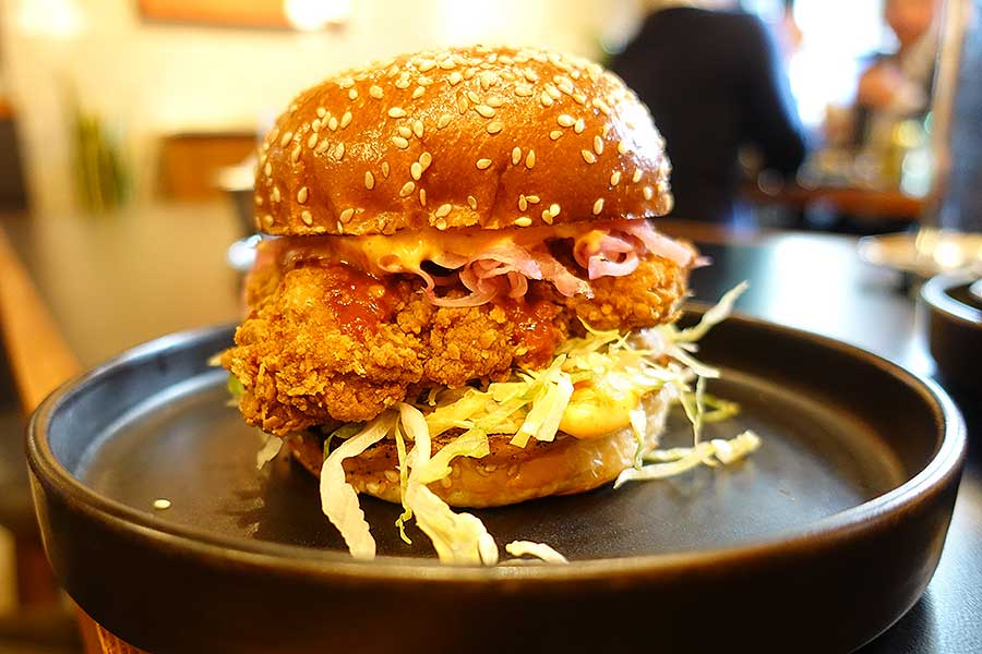 chicken burger coqfighter soho