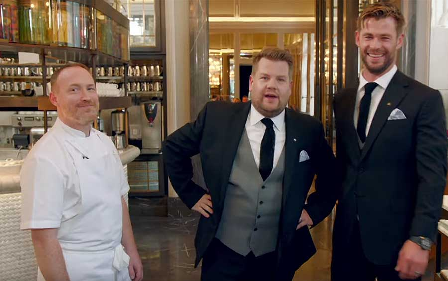 james corden chris hemsworth the northall