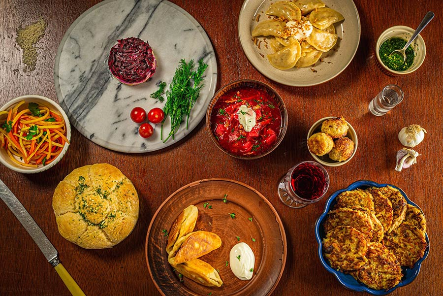 Ukranian restaurant Pampushka is popping up at Soho's Sun and 13 Cantons