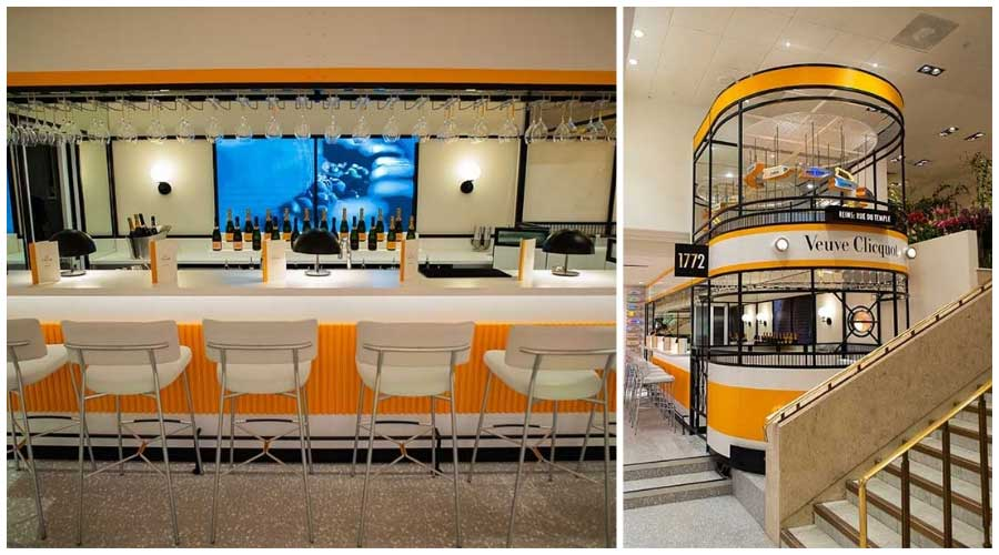 selfridges open veuve cliquot tram bar