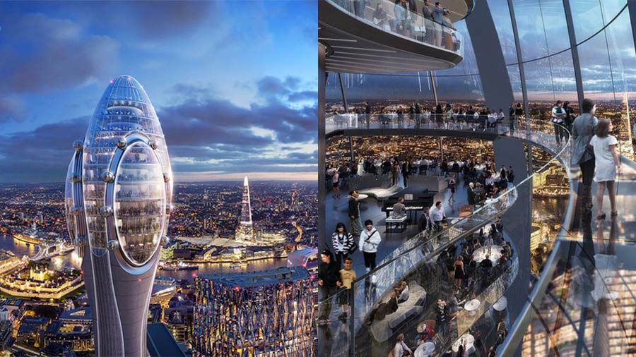Will The Tulip tower host the highest restaurant in London?