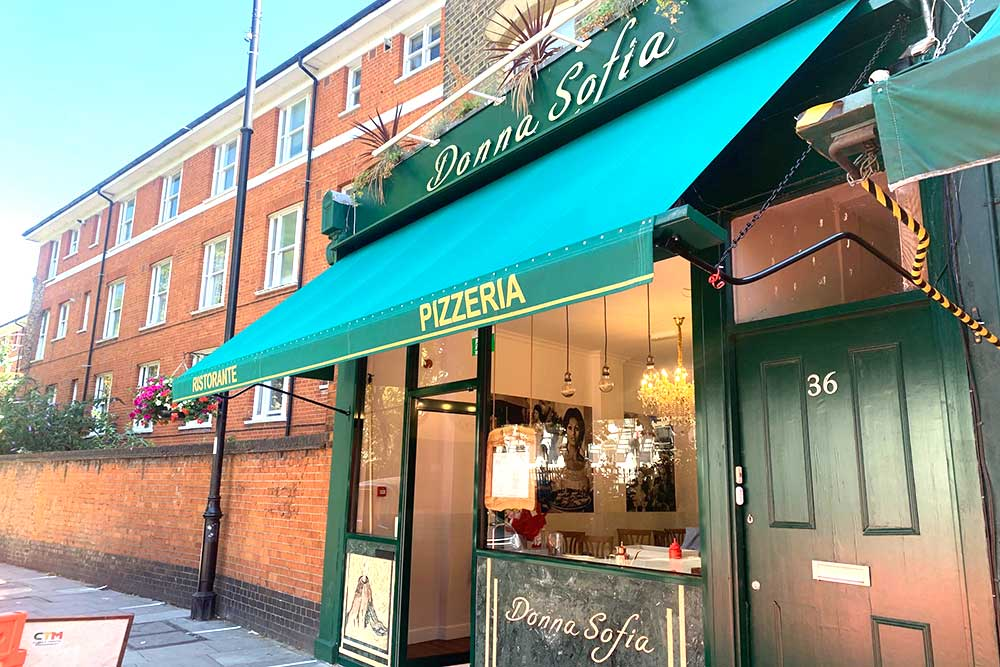 donna sofia restaurant london highbury