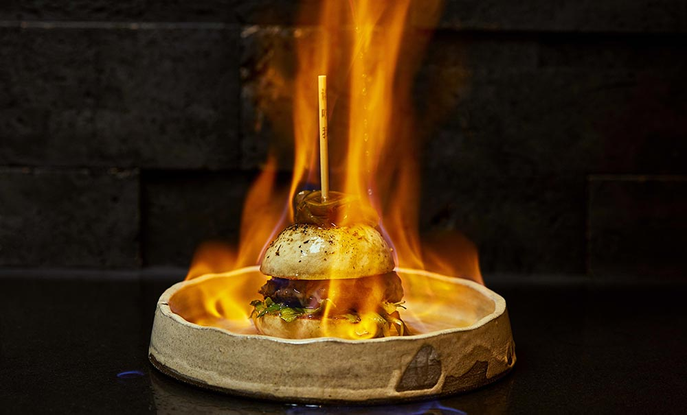 Nami at Nobu Shoreditch is setting fire to wagyu burgers on Leap Day