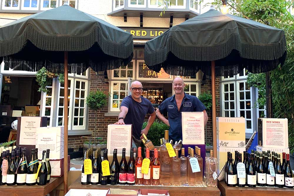 red lion and sun highgate wine shop and food delivery